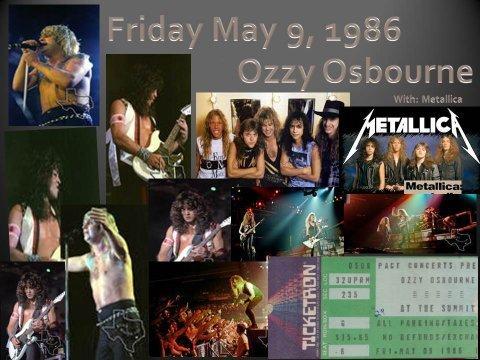 Metallica's Concert & Tour History | Concert Archives