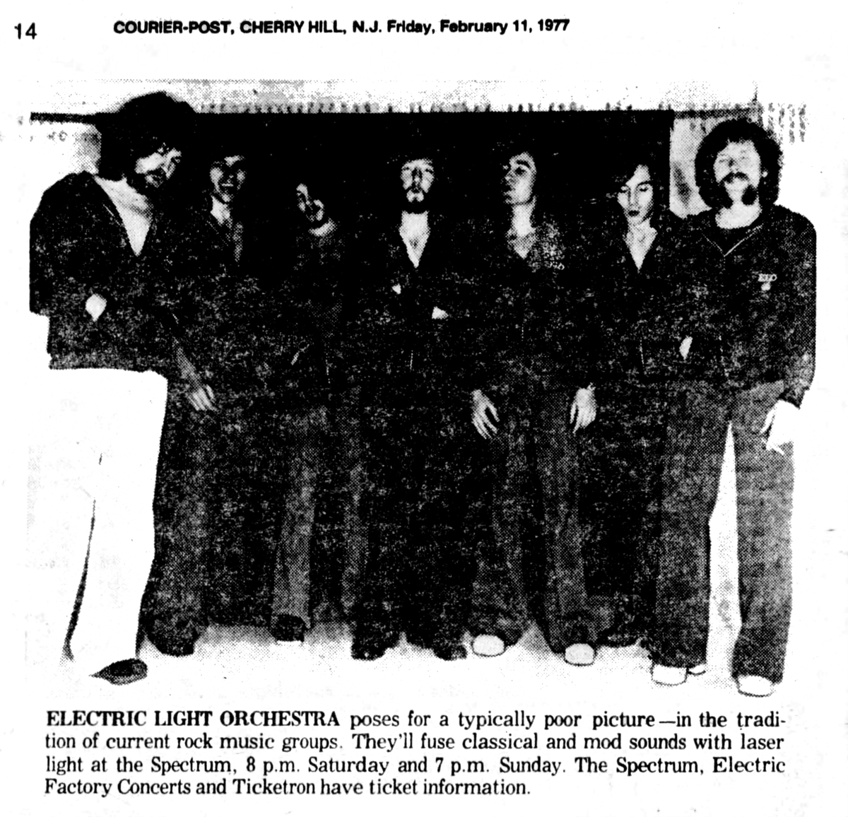 Electric Light Orchestra's Concert & Tour History