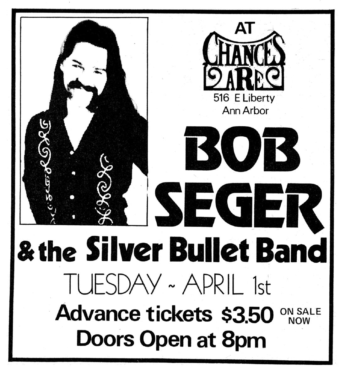 Bob Seger & The Silver Bullet Band's Concert & Tour History   Concert  Archives