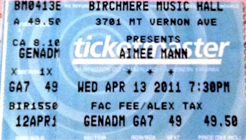 Aimee Mann Concert Dates