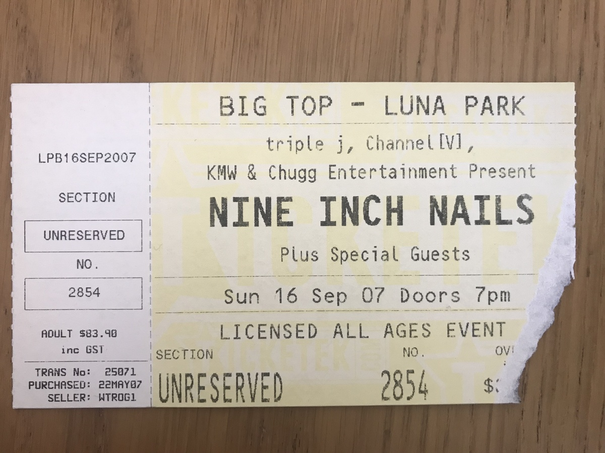 Nine Inch Nails\'s Concert History | Concert Archives