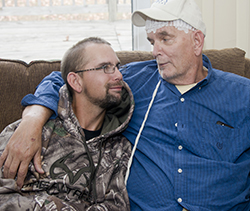 Alanowski helps care for his father, John, who has brain cancer