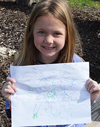 Abstract ooze monsters take many forms, as illustrated by second-grader Lucy Marczuk