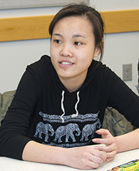 Hang Thi Minh Ha says making class presentations was good for her