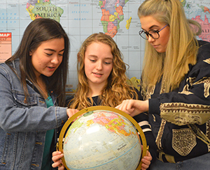 Kelloggsville seniors Alexia Plaza, Jaime Tiesma and Addie Coons are looking forward to their trip to Spain this summer