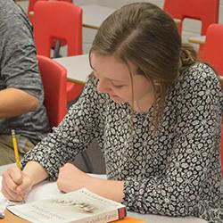 Freshman Kristen Toporski said she has been accustomed to close reading since seventh grade