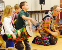 In 2014, David Hall from the Grand Rapids Symphony performed a multicultural musical performance at Knapp Forest Elementary (courtesy photo)