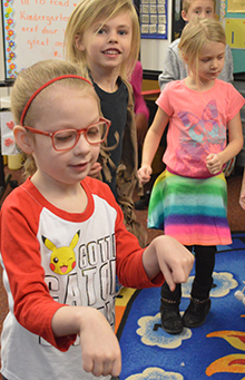 "Kindergartner Sophia Keiser dances to ""Happy"""