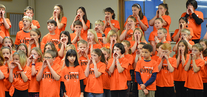Countryside Elementary students always exceed expectations, says choir director Mark Shepard