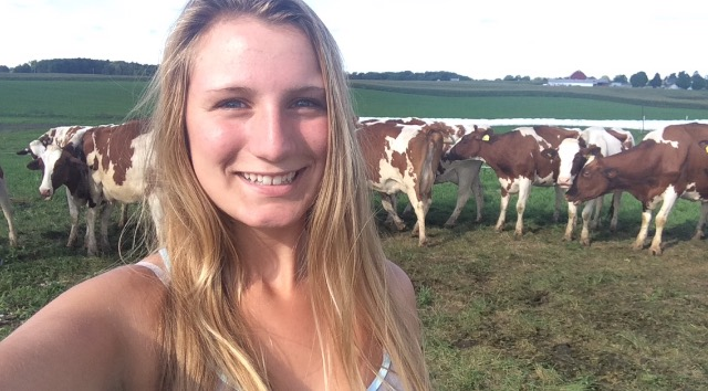 Caledonia High School sophomore Shannon Good will soon sell organic milk produced by her cows