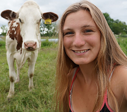 Shannon Good is preparing for a career in farming through FFA and agriscience classes at school