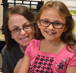 Aliyah VanDrunen and her mom, Lisa Geister, are all smiles about school at Paris Ridge Elementary School