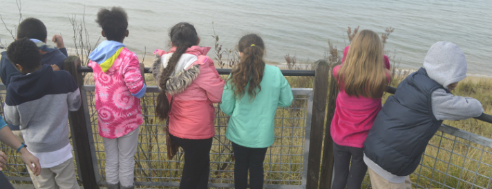 """It's beautiful!"" one student exclaimed as the group gazed out at Lake Michigan"