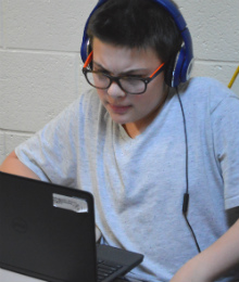 Eighth-grader Gage Sims recently learned he is on track to exit the SWAS intervention program
