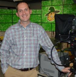 Teacher Jeff Manders in the studio
