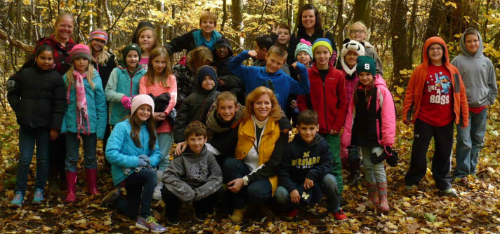 Mary Clare Christensen's class visited Howard Christensen Nature Center, where they learned how adaptations apply to local plants and animals during fall