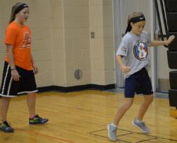 Seventh-grader Cierra Laska hops fast