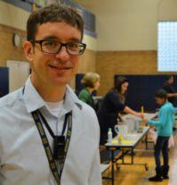 Fourth-grade teacher Tim Saunders