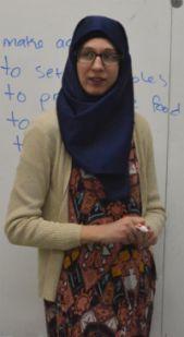 Americorps instructor Kari Moss teaches English