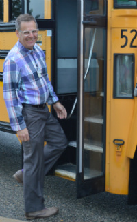Darryl Hofstra is transportation director for Forest Hills Public Schools