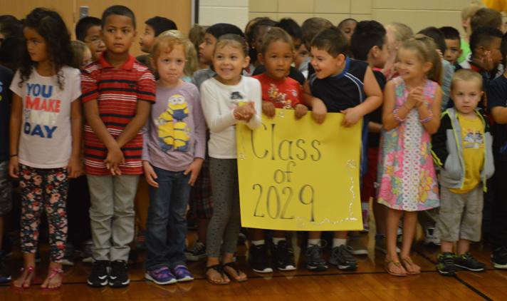 The class of 2029 celebrated starting their school career