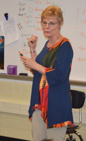"""I think"" and ""I believe"" are opinions, not facts, Sue Blackall tells her third grade class"
