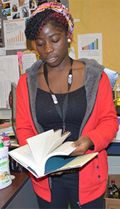 Senior Tenin Jabathere said the class gave her the opportunity to dig deeper into books she enjoys