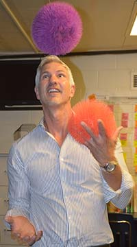 New Principal David Lyon says 'juggling' is a skill he will be using all year