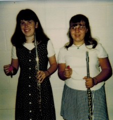 Elizabeth Wisniewski, right, and best friend Kelly Hill, middle school flautists extraordinaire