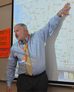 Byron Center Public Schools Superintendent Dan Takens talks about where his family lived in the Netherlands