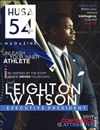 Watson on the cover of the Howard University Student Association magazine