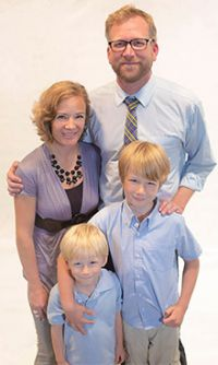 Steve and Nora Faber with their two boys