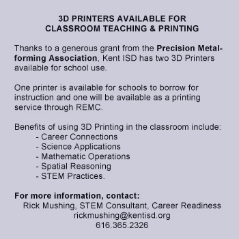 3D Printers Available for Classroom Teaching & Printing
