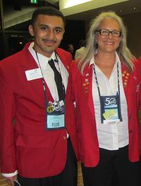 Luis Vinalay and Deb Riolo sporting their SkillsUSA jackets