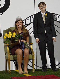 Cancer survivor Champ McCahill was crowned Homecoming King and Liza Elder was crowned queen