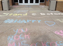 The Knights Lights anti-bullying group promoted the Teen Nation tour at Kenowa Hills High School