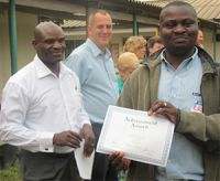 Zambian teachers receive certificates after completing the workshops