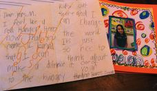 The Rockford students' handmade book included inspiring messages