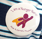 Students proudly wore their Hunger Heroes buttons