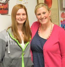 "Senior Taylor VanderPloeg wrote an award-winning essay nominating teacher Jen Sadler as ""My Favorite Teacher"""