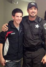 Derek Brandon with actor Dean Cain