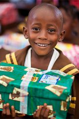 Godfrey-Lee students sent more than 130 shoeboxes full of gifts and toiletry items to children overseas (courtesy photo)