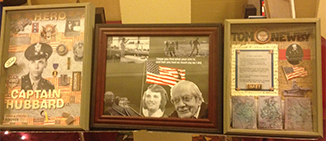 Student's made and displayed artwork for the Veterans and their family