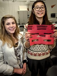 Students enjoy their time at during the Chinese New Year celebration