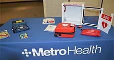 Metro Health recently donated 10 defibrillators to area schools