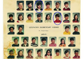 Bill Fetterhoff is the student in this class photo; Bruce Snoap his memorable teacher