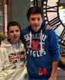 French students Florent Glo (left) and Vincent Alcaraz had a good time at the Van Andel Museum Center