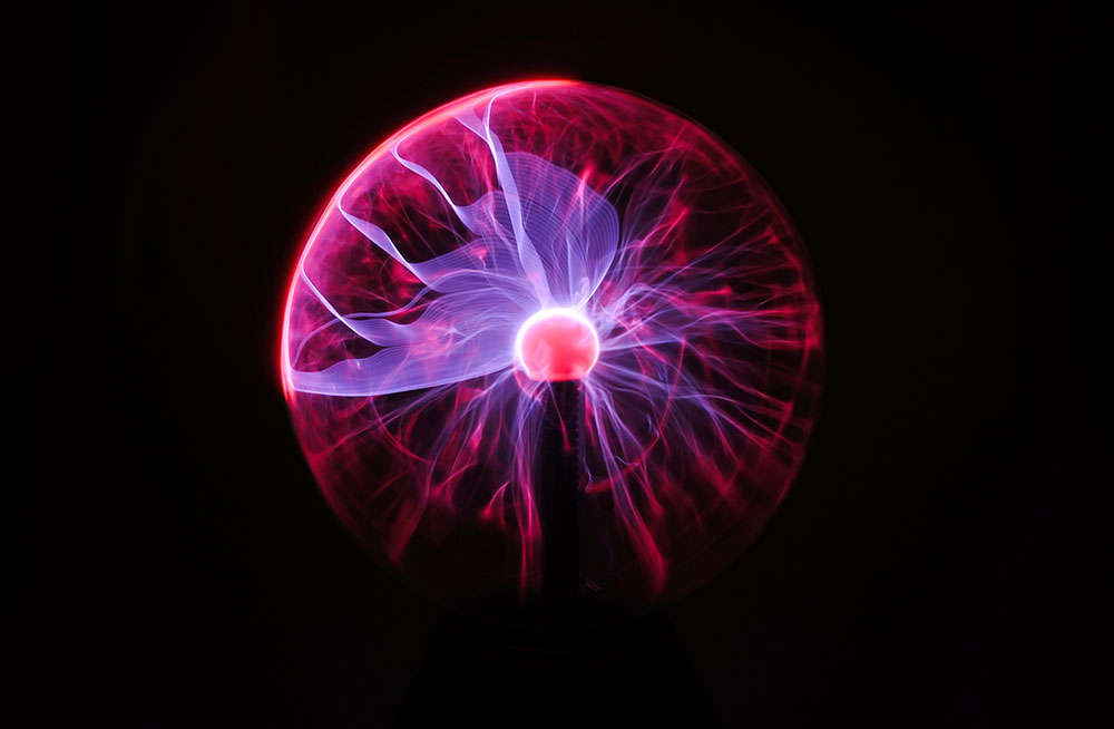 Teri DeBoer brought a lightning ball similar to this, that she used to demonstrate how objects conduct electricity