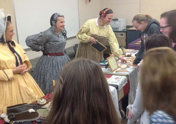Byron Center West Middle School students learn about life in the 1860s from Civil War re-enactors