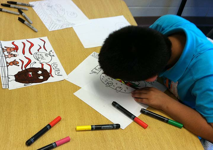 Creativity is encouraged throughout T.E.A.M. 21 enrichment program activities